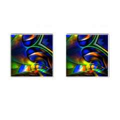 Light Texture Abstract Background Cufflinks (square)