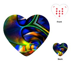 Light Texture Abstract Background Playing Cards (heart)