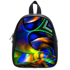 Light Texture Abstract Background School Bags (small)
