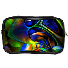 Light Texture Abstract Background Toiletries Bags 2 Side