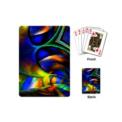 Light Texture Abstract Background Playing Cards (mini)
