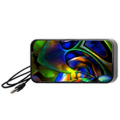 Light Texture Abstract Background Portable Speaker (black)