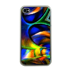 Light Texture Abstract Background Apple Iphone 4 Case (clear)