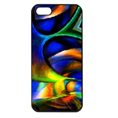Light Texture Abstract Background Apple Iphone 5 Seamless Case (black)