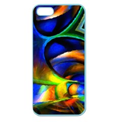 Light Texture Abstract Background Apple Seamless Iphone 5 Case (color)