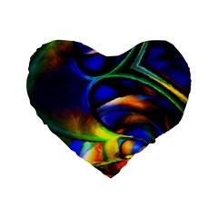 Light Texture Abstract Background Standard 16  Premium Heart Shape Cushions