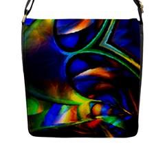 Light Texture Abstract Background Flap Messenger Bag (l)