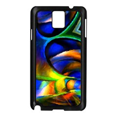 Light Texture Abstract Background Samsung Galaxy Note 3 N9005 Case (black)