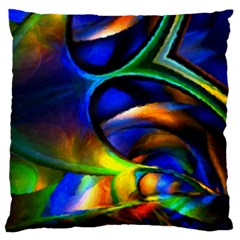 Light Texture Abstract Background Large Flano Cushion Case (one Side)