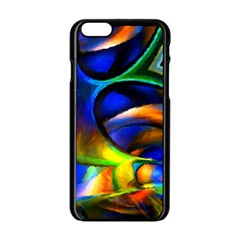Light Texture Abstract Background Apple Iphone 6/6s Black Enamel Case
