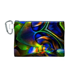 Light Texture Abstract Background Canvas Cosmetic Bag (m)