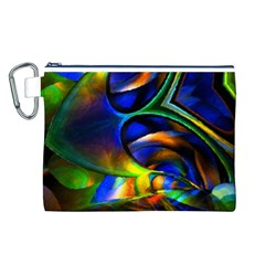 Light Texture Abstract Background Canvas Cosmetic Bag (L)
