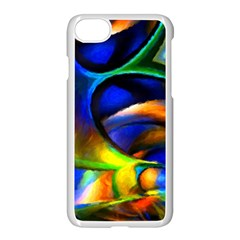 Light Texture Abstract Background Apple Iphone 7 Seamless Case (white)
