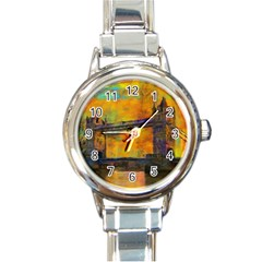 London Tower Abstract Bridge Round Italian Charm Watch