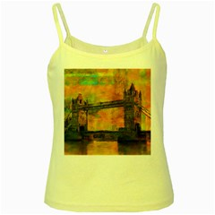 London Tower Abstract Bridge Yellow Spaghetti Tank