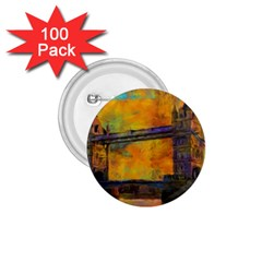 London Tower Abstract Bridge 1 75  Buttons (100 Pack)