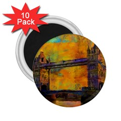 London Tower Abstract Bridge 2 25  Magnets (10 Pack)