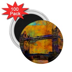 London Tower Abstract Bridge 2 25  Magnets (100 Pack)