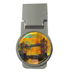 London Tower Abstract Bridge Money Clips (round)