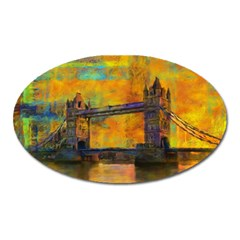 London Tower Abstract Bridge Oval Magnet