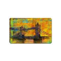London Tower Abstract Bridge Magnet (name Card)