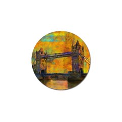 London Tower Abstract Bridge Golf Ball Marker