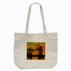 London Tower Abstract Bridge Tote Bag (cream)