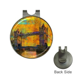 London Tower Abstract Bridge Hat Clips With Golf Markers