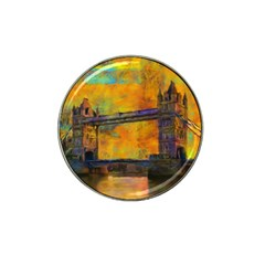 London Tower Abstract Bridge Hat Clip Ball Marker (4 Pack)