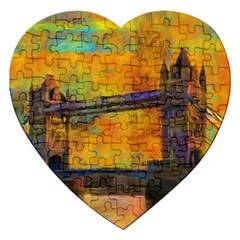 London Tower Abstract Bridge Jigsaw Puzzle (heart)