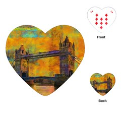 London Tower Abstract Bridge Playing Cards (heart)