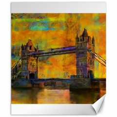 London Tower Abstract Bridge Canvas 8  X 10