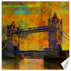 London Tower Abstract Bridge Canvas 12  X 12