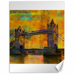 London Tower Abstract Bridge Canvas 12  X 16