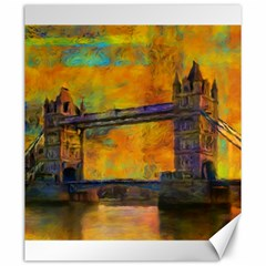 London Tower Abstract Bridge Canvas 20  X 24