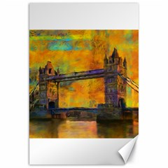 London Tower Abstract Bridge Canvas 20  X 30