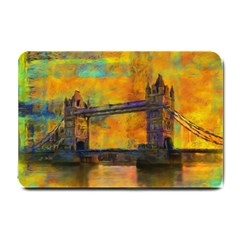 London Tower Abstract Bridge Small Doormat