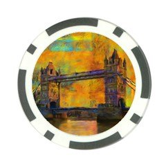 London Tower Abstract Bridge Poker Chip Card Guards