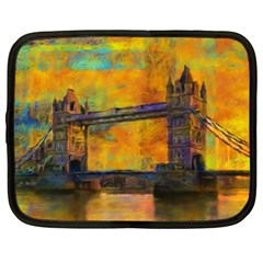 London Tower Abstract Bridge Netbook Case (large)