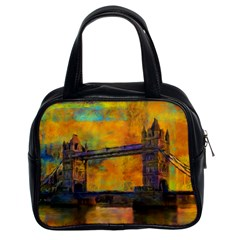 London Tower Abstract Bridge Classic Handbags (2 Sides)