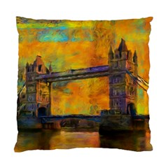 London Tower Abstract Bridge Standard Cushion Case (two Sides)