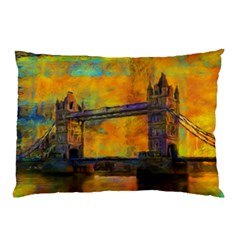 London Tower Abstract Bridge Pillow Case