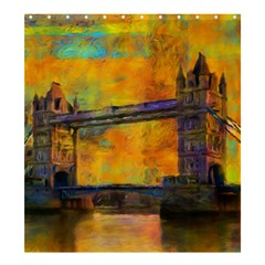 London Tower Abstract Bridge Shower Curtain 66  X 72  (large)