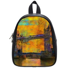 London Tower Abstract Bridge School Bags (small)