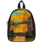 London Tower Abstract Bridge School Bags (Small)  Front