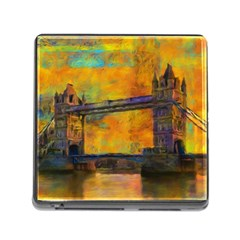 London Tower Abstract Bridge Memory Card Reader (square)