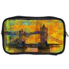 London Tower Abstract Bridge Toiletries Bags