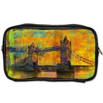 London Tower Abstract Bridge Toiletries Bags Front