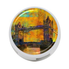 London Tower Abstract Bridge 4 Port Usb Hub (two Sides)