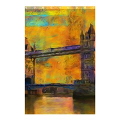 London Tower Abstract Bridge Shower Curtain 48  X 72  (small)